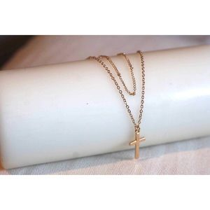 Jewelry - Cross gold tone layered necklace